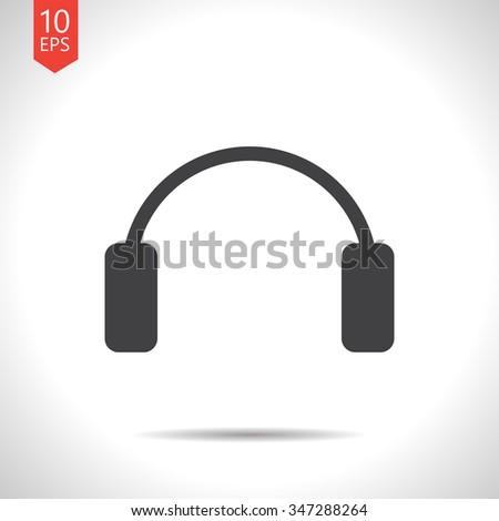 Vector christmas icon. New year illustration. Winter headphones, ear muffs - stock vector