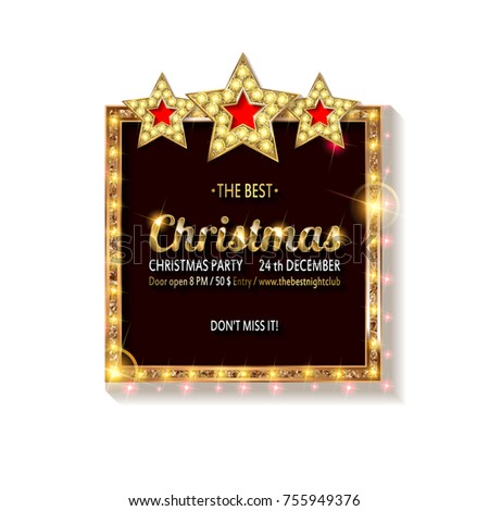 Vector christmas party invitation holiday background stock vector vector christmas party invitation holiday background and design banner vector template xmas graphic stopboris Image collections