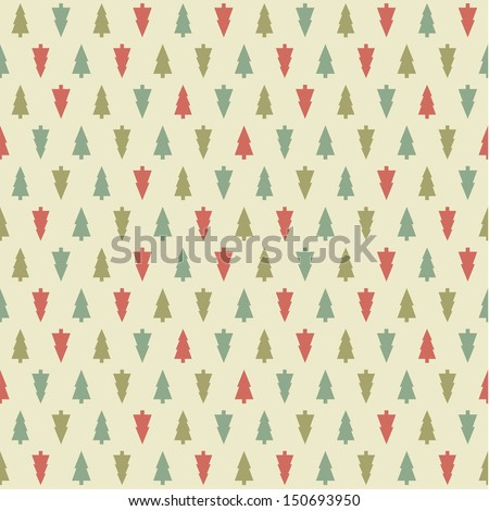 Vector Christmas pattern. Colorfully xmas seamless texture. For background, greeting card or wrapping paper. - stock vector