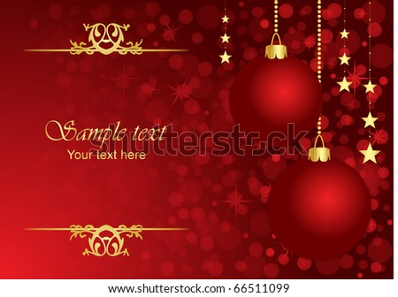 Vector Christmas red  background - stock vector