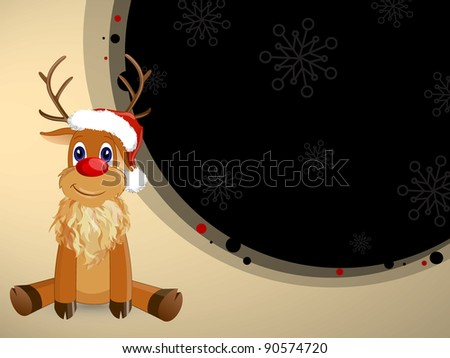 Vector Christmas Reindeer