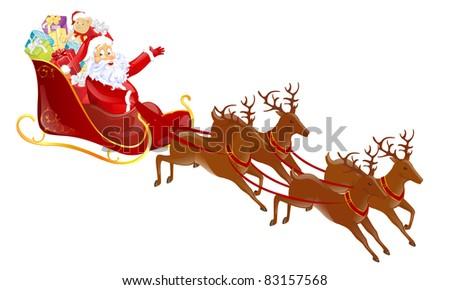 Vector Christmas Santa Claus - stock vector