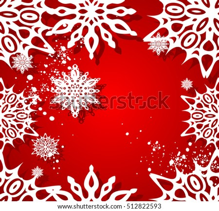 Vector Christmas seamless background.