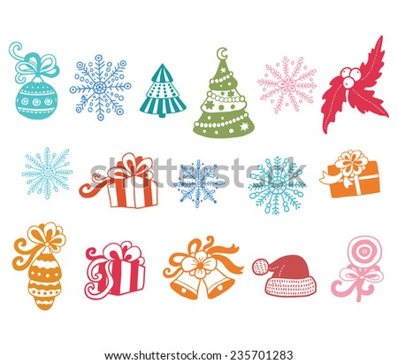 Vector christmas set