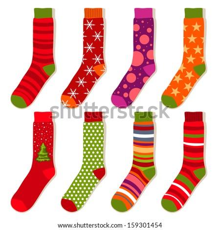 vector Christmas stockings - stock vector