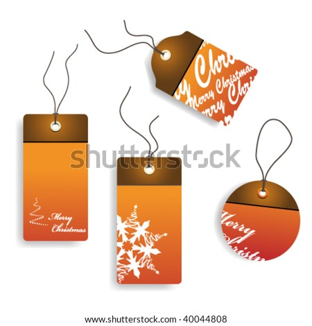 Vector  Christmas tags