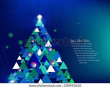 Vector Christmas Tree - stock vector