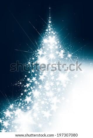 Vector Christmas tree, greeting card. - stock vector