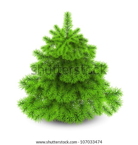 Vector Christmas tree isolated for decorate . - stock vector