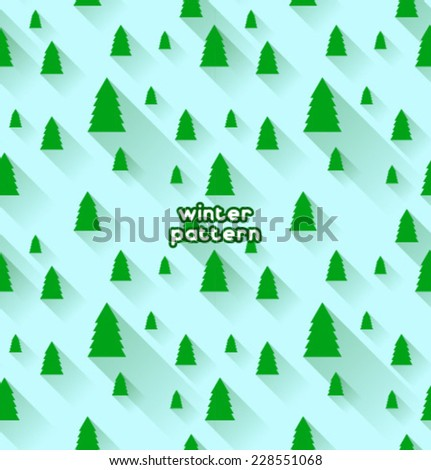 Vector christmas tree pattern - stock vector