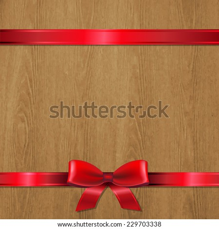 Vector Christmas Wood Texture With Gradient Mesh, Vector Illustration - stock vector
