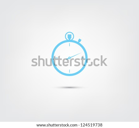 Vector chronometer icon / button for websites (UI) or applications (app) for smartphones or tablets. Pictogram - stock vector