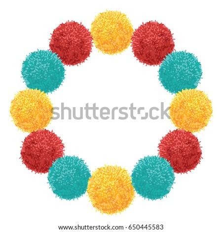 Vector Chunky Wreath Colorful Vibrant Birthday Stock Vector ...