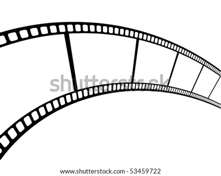 vector cinema film strip eps10 - stock vector