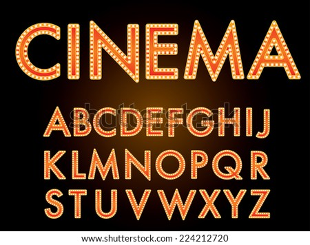 movie marquee font