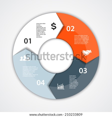 Vector circle arrows infographic template diagram stock vector vector circle arrows for infographic template for diagram graph presentation and chart ccuart Image collections