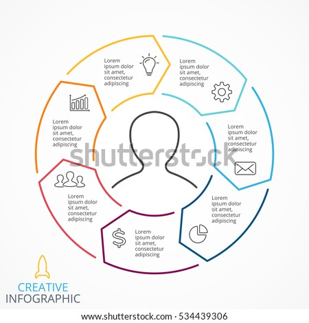 Vector circle arrows infographic cycle diagram stock vector royalty vector circle arrows infographic cycle diagram linear graph presentation chart business info ccuart Choice Image