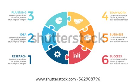 Vector circle arrows puzzle infographic cycle stock vector 562908796 vector circle arrows puzzle infographic cycle diagram jigsaw graph presentation chart business ccuart Images