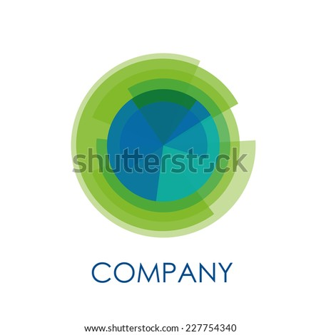 Vector circle cut into wedges - stock vector