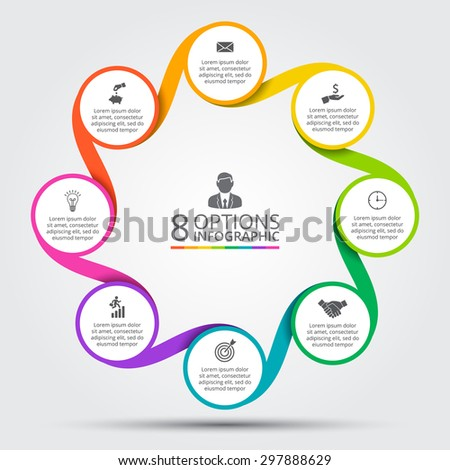 Vector Circle Element Infographic Template Cycle Stock Vector