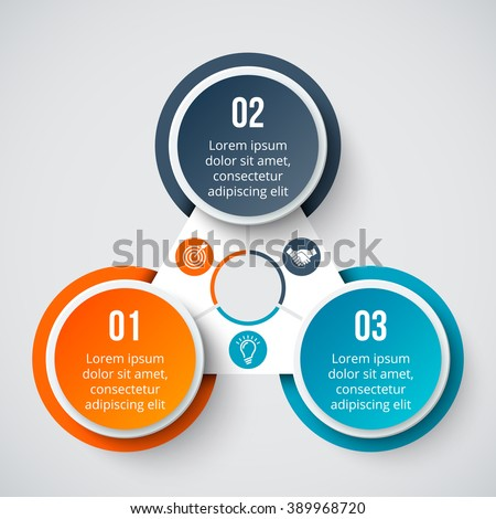 Vector Elements Infographic Template Diagram Graph Stock Vector