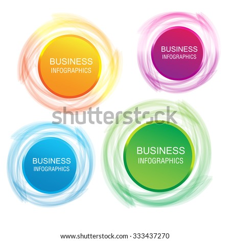 Vector circle infographic business template design. Can be used for workflow layout, diagram, number options, web design, business concept.
