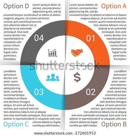 vector circle infographic template cycle diagram stock vector rh shutterstock com Cycle of Abuse Diagram Walrus Life Cycle Circular Diagram
