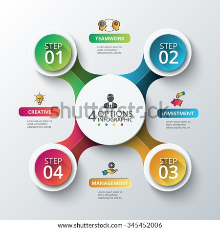 Vector circle infographic template cycle diagram em vetor stock vector circle infographic template for cycle diagram graph presentation and round chart ccuart Images