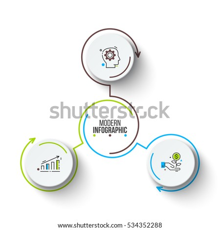 Circle stock images royalty free images vectors shutterstock vector circle infographic template for cycle diagram graph presentation and round chart ccuart Image collections