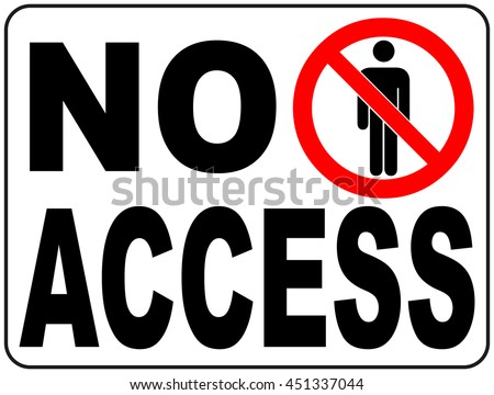 Vector Circle Prohibited Sign Restricted Area For Member Only or No Enter Sign in Caution Zone - stock vector