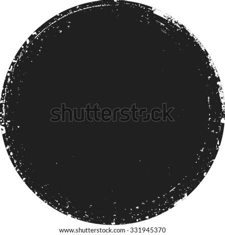 Vector Circle Shape . Circle Stamps . Round Brush Stroke . Icon, Logo, Banner Design . - stock vector