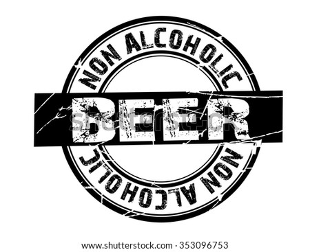 "vector circle stamp ""non alcoholic beer"""