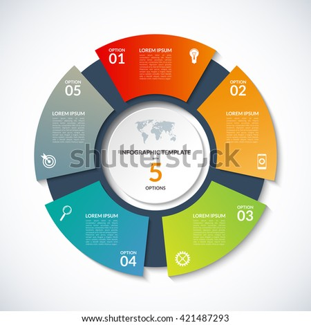 Vector circle template infographics business concept stock vector vector circle template for infographics business concept with 5 options steps parts cheaphphosting Gallery