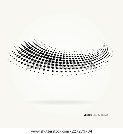 Vector circles color halftone dots abstract background - stock vector