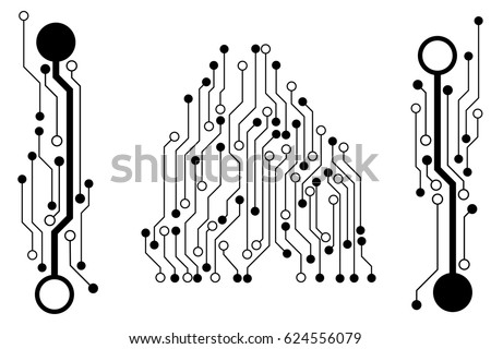 vector circuit board pattern background technology stock