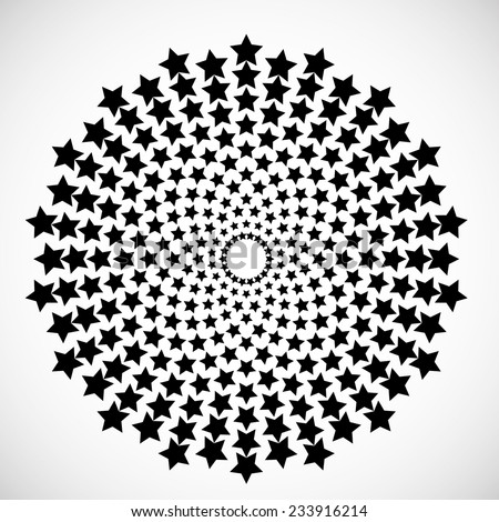 Vector Circular Halftone Dots in Star Form. Vector Logo Design Template. Business Icon.  - stock vector