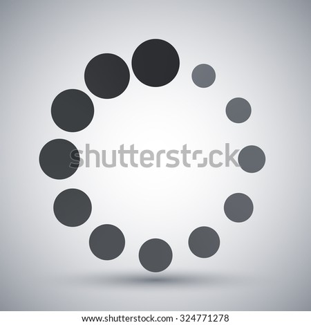 Vector circular loading icon - stock vector
