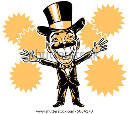vector Circus Ringleader illustration
