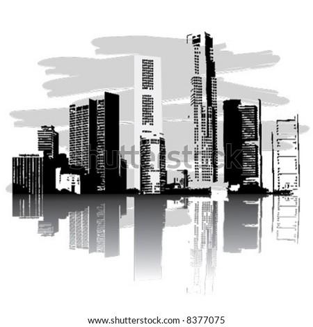 Vector city - stock vector