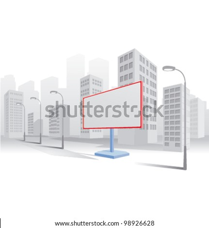 Vector city advertising - stock vector