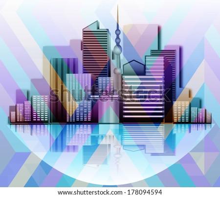 vector city background - stock vector