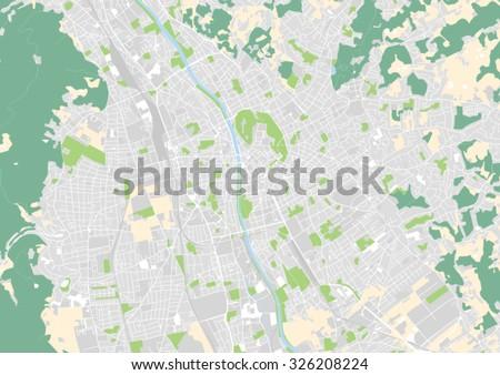 Vector City Map Salzburg Austria Stock Vector Shutterstock - Graz austria map