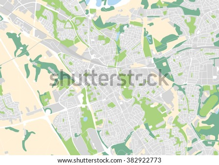 Vector City Map Heerlen Netherlands Stock Vector 382922773