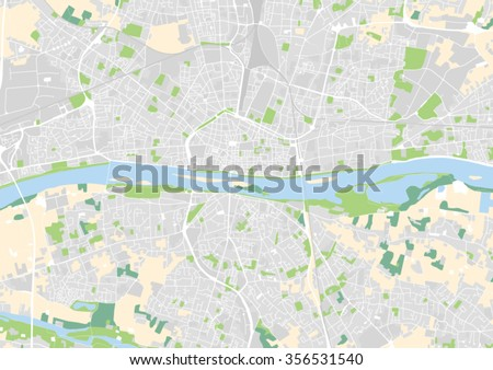 Vector City Map Orleans France Stock Vector Shutterstock - Orleans france map