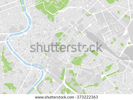 vector city map of Rome, Italy