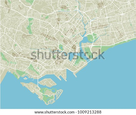 Singapore city map stock images royalty free images vectors vector city map of singapore with well organized separated layers publicscrutiny Images