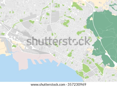 Vector City Map Thessaloniki Greece Stock Vector HD Royalty Free