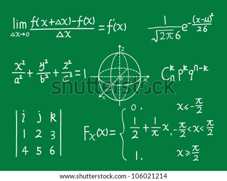 vector class blackboard of mathematics - stock vector