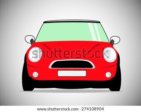 vector classic car - stock vector
