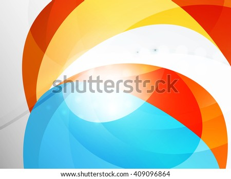 Vector clean blurred wave abstract template - stock vector